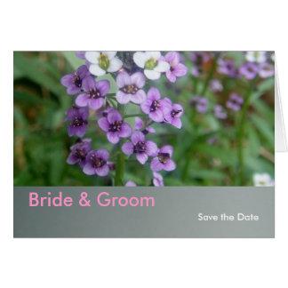 Cartão Casamento roxo