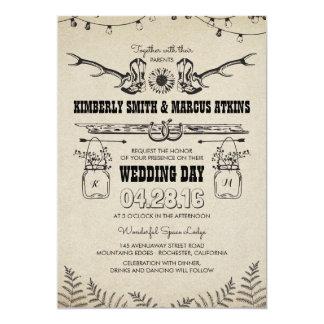 Cartão Casamento rústico do celeiro do país do girassol