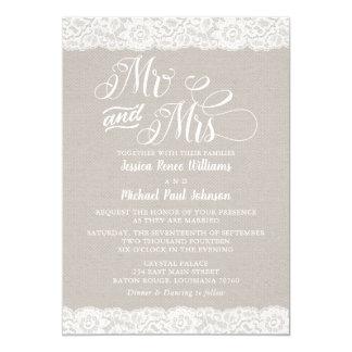 Cartão Casamento rústico do laço