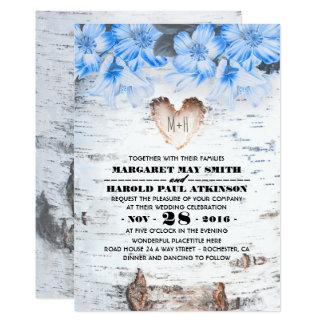 Cartão Casamento rústico do país do coração do latido de