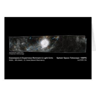Cartão Cassiopeia uma NASA do resto do Supernova & do eco