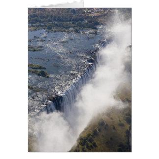 Cartão Cataratas Vitória, rio de Zambesi, Zâmbia -