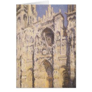 Cartão Catedral de Rouen, ouro azul da harmonia por