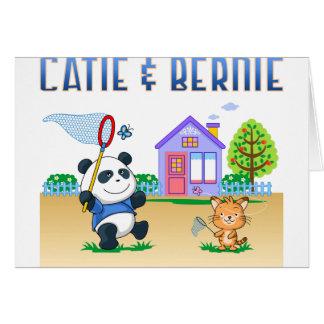 Cartão Catie e Bernie
