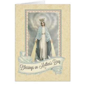 Cartão católico do dia das mães