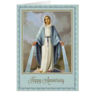 Cartão católico tradicional do aniversário da