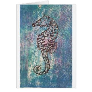 Cartão Cavalo marinho