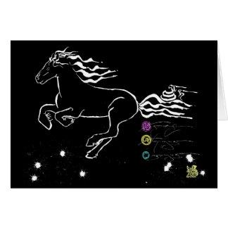 Cartão Cavalo que galopa à esquerda (WB) [cartão]