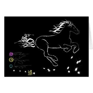 Cartão Cavalo que galopa certo (WB) [cartão]