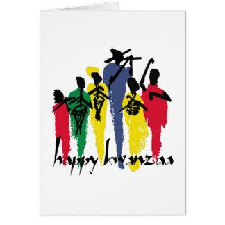 Cartão Celebração astuta Kwanzaa Notecards