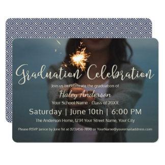 Cartão Celebração da graduação dos fogos-de-artifício