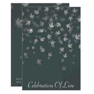 Cartão Celebração das folhas vivas da prata do Vip