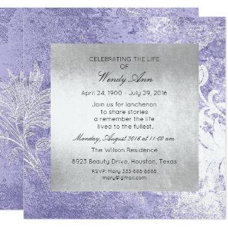 Cartão Celebração de sujo roxo de prata vivo vivo