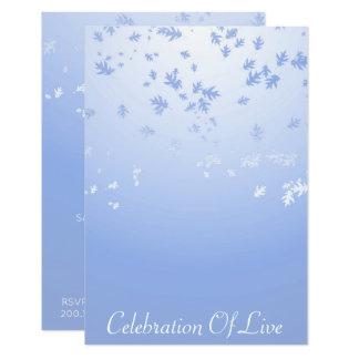 Cartão Celebração do azul de prata vivo do Vip
