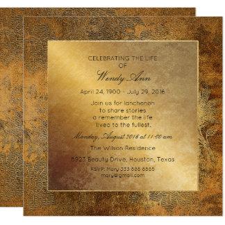 Cartão Celebração do ouro sujo vivo vivo floral