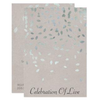 Cartão Celebração do Pastel de prata vivo do Vip