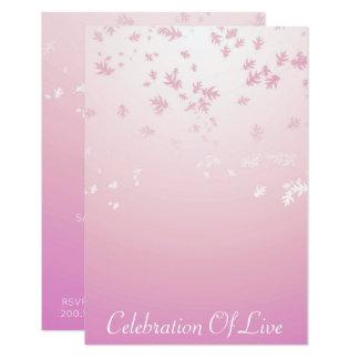 Cartão Celebração do rosa de prata vivo do Vip