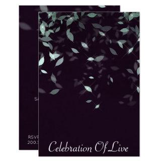 Cartão Celebração do roxo de prata vivo do Vip