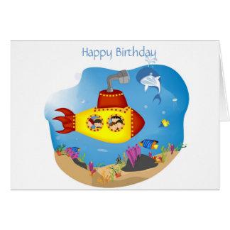 Cartão Celebração submarina
