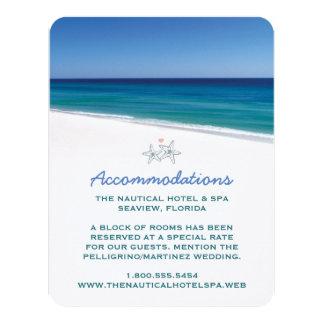Cartão cénico da inserção do casamento de praia convite personalizados