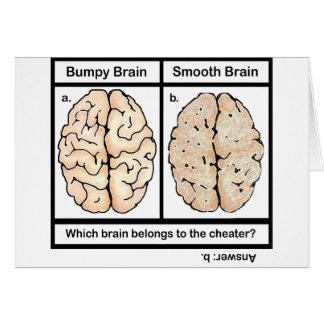 Cartão Cérebro de engano