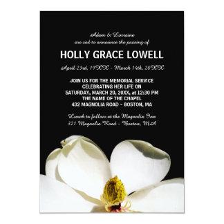 Cartão Cerimonia comemorativa bonita da magnólia