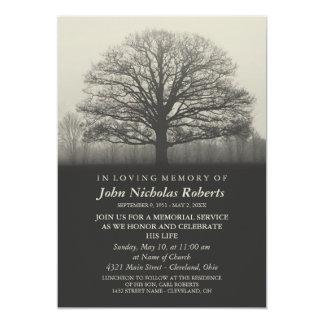 Cartão Cerimonia comemorativa da silhueta da árvore