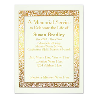 Cartão Cerimonia comemorativa dourada do quadro do