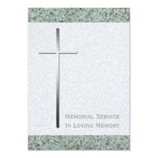 Cartão Cerimonia comemorativa transversal cristã da pedra