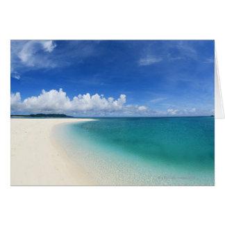 Cartão Céu azul e mar 7