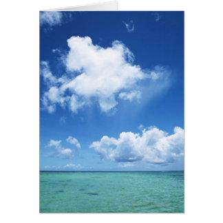 Cartão Céu azul e o mar