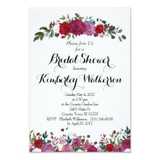 Cartão Chá de panela do jardim de rosas
