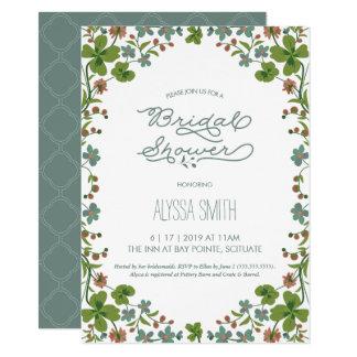 Cartão Chá de panela do vintage - jardim, flores