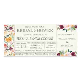 Cartão Chá de panela floral chique do partido de jardim