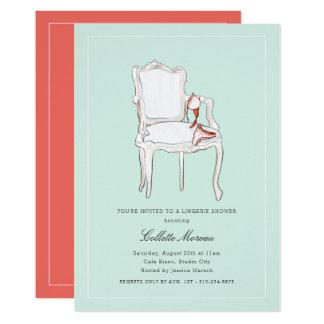 Cartão Chá de panela ou festa de solteira da lingerie