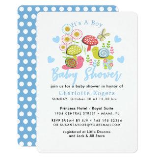 Cartão Chá irrisório do bebé do jardim do primavera do