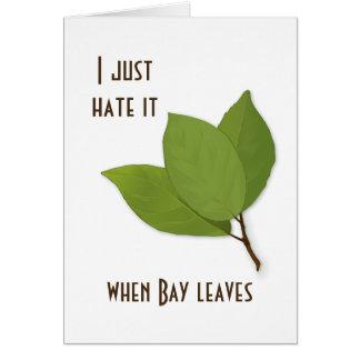 Cartão Chalaça da erva, eu di-a-ar quando as folhas de
