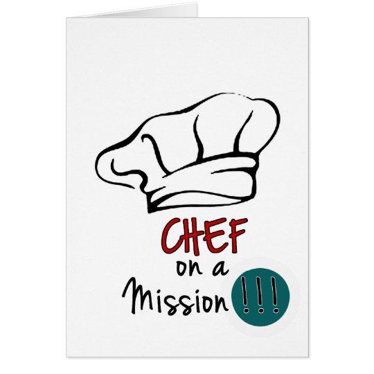 Cartão Chef on a Mission