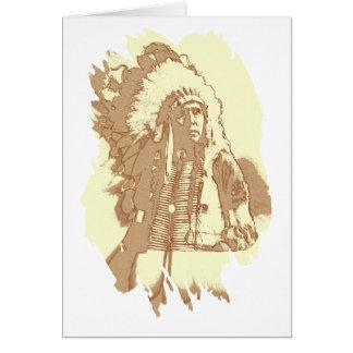 Cartão Chefe do nativo americano