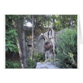 Cartão Chefe indiano do nativo americano com cavalo