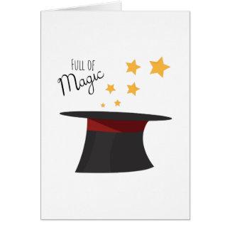 Cartão Cheio da mágica