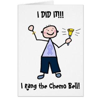 Cartão Chemo Bell - general Cancer Homem