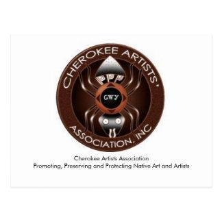 Cartão Cherokee da associação dos artistas Cartão Postal