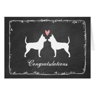 Cartão Chihuahuas que Wedding parabéns