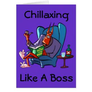 Cartão Chillaxing o diabo que relaxa
