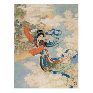 Cartão chinês da deusa da lua cartão postal