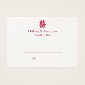 Cartão chinês da escolta do casamento da