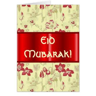 Cartão Chintz floral Eid Mubarak do vintage