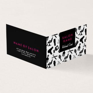 Cartão chique da referência do cabeleireiro do