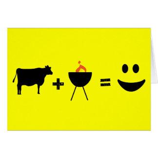 Cartão churrasco da vaca feliz